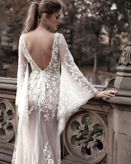 rustic wedding dresses with long sleeves back country lace oved cohen