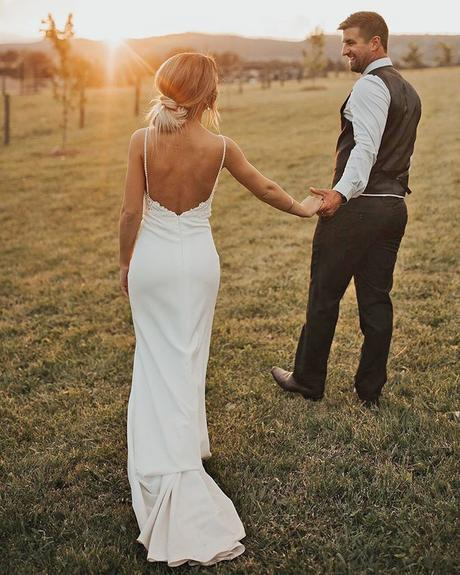rustic wedding dresses sheath with spaghetti straps backless made with love