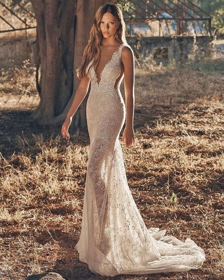 rustic wedding dresses sheath sweetheart neckline lace galialahav