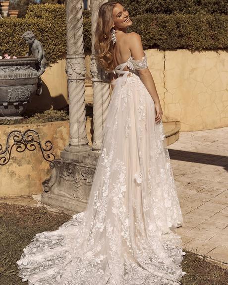rustic wedding dresses a line off the shoulder lace bohemian madi lane