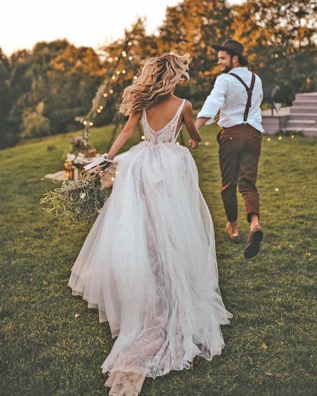 rustic wedding dresses ball gown v back lace country kattya lisa