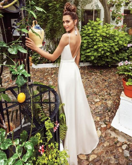 rustic wedding dresses simple with spaghetti straps backless sexy beach kookla