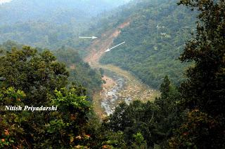 Danger in the hills of Ranchi district in Jharkhand State of India.