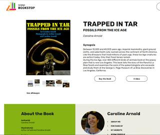 TRAPPED IN TAR at SCBWI BOOKSTOP, Now extended to Dec 15