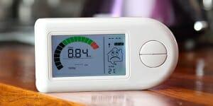 smart energy monitor on a table