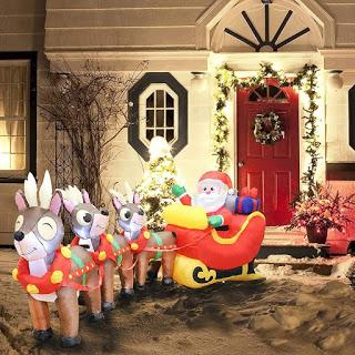 Bring Christmas Cheer to Your Home with Inflatables and Other Decorations from Joiedomi!