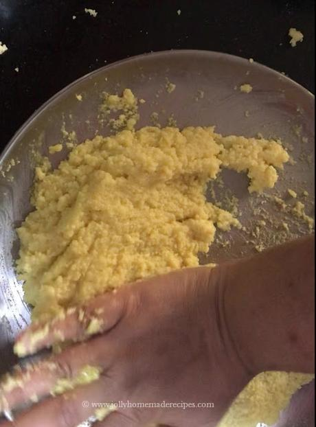 mash with the heel of your hands