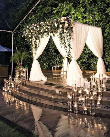 popular instagram posts 2020 venue ceremony with candle decor fslosangeles