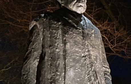 Comm Ave Statue Lighting Continues   December 17, 2020