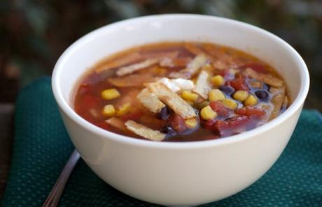 Slow Cooker Sunday: Black Bean Tortilla Soup