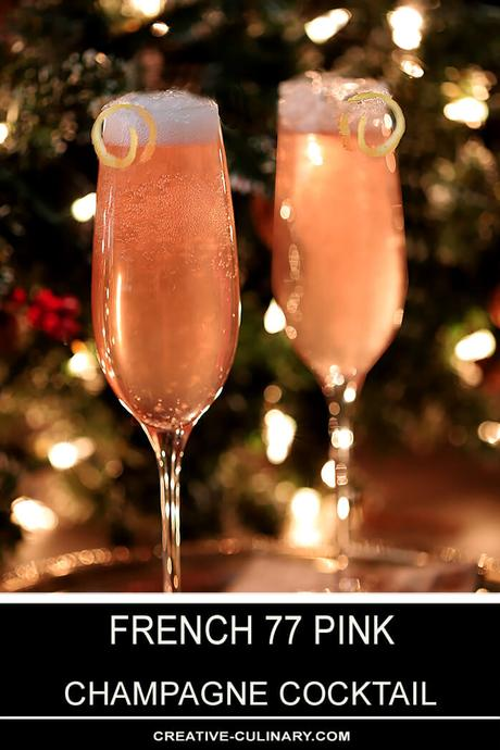 French 77 Pink Champagne Cocktail