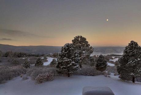 View from her back porch in Colorado. Love.