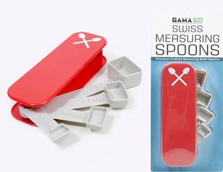 Swiss knife measuring spoons