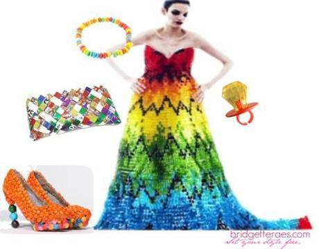 Candy Styling for the Alexander McQueen inspired Gummy Bear Dress