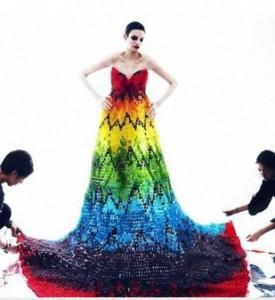 Hungry?  Check Out This Gown Made From 50,000 Gummy Bears