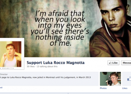 Screen grab of a Magnotta support page on Facebook.