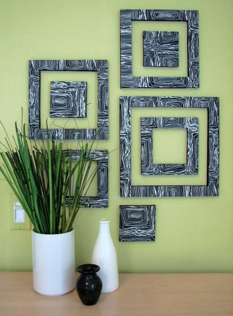 10 diy wall art projects paperblog for Art and craft home decoration