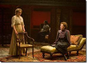 (left to right) Sisters Irina (Caroline Neff), Olga (ensemble member Ora Jones) and Masha (Carrie Coon) in Steppenwolf Theatre Company's production of Anton Chekhov's Three Sisters, adapted by ensemble member Tracy Letts, directed by ensemble member Anna D. Shapiro.