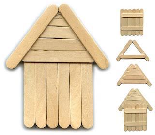 another popsicle stick house paperblog. Black Bedroom Furniture Sets. Home Design Ideas