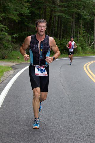 Ryan running at Ironman Lake Placid