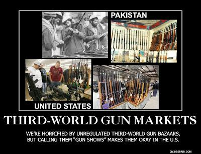 Third-World Gun Bazaars vs. U.S. Gun Shows