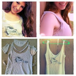 Pinterest Inspired: DIY T-shirt into a Tank Top! - Paperblog