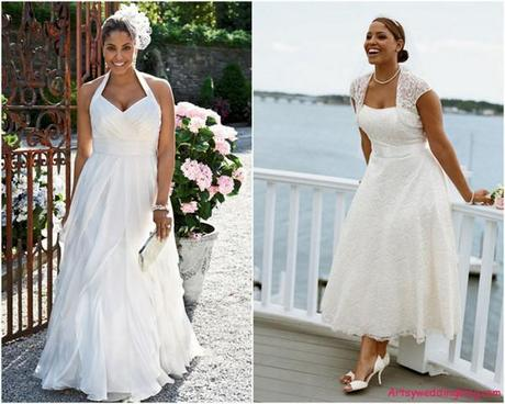Choosing The Best Wedding Dress For A Short Plus Sized Woman Paperblog