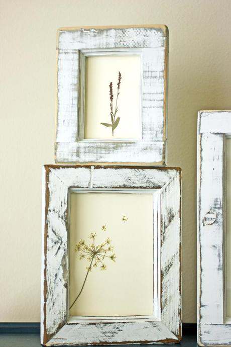 DIY framed flowers