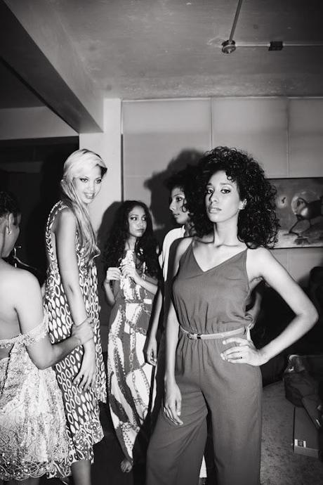 Backstage of The Hippie Runway