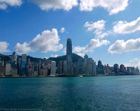 Hong Kong Island under a baking hot sun