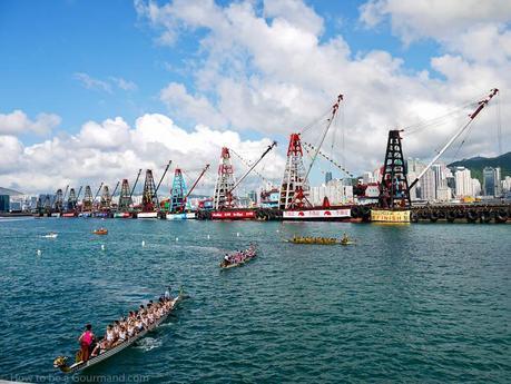 Dragon Boat racers post race