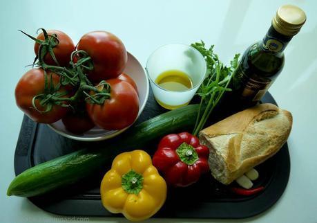 Ingredients for Gazpacho