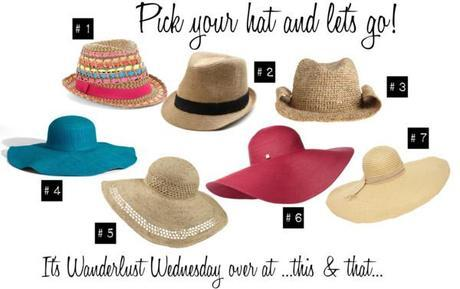 Wanderlust Wednesday: Pick your hat!