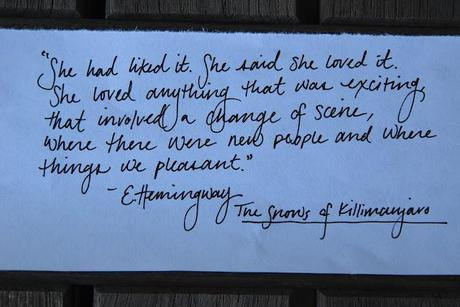 Wilder Words + Musings: On Loving Hemingway (and) A Few of His Gems