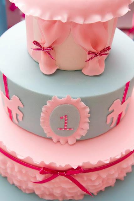 Pretty In Pink Carnival 1st Birthday Party By Cakes N