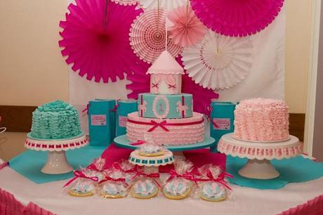 Pretty in Pink Carnival 1st Birthday party by Cakes N Things By Rachael