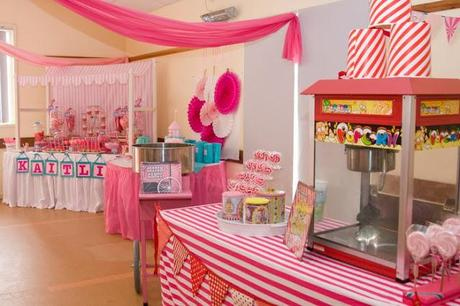 Pretty in Pink Carnival 1st Birthday party by Cakes N Things By ...