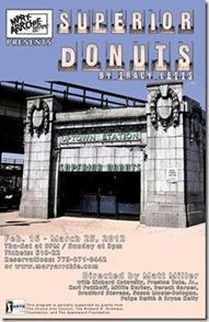 Superior Donuts by Tracy Letts - Mary-Arrchie Theatre postcard