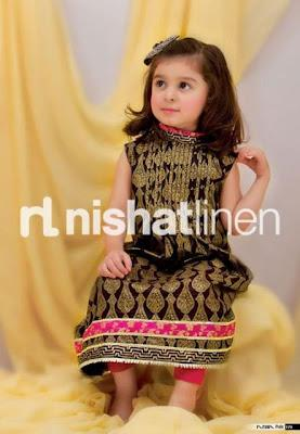 Nisha Princess Festive Eid Collection For Kids By Nishat Linen 2012