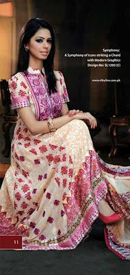 SilkyLine Fabrics  Latest Eid & Mid Summer Dresses Collection 2012