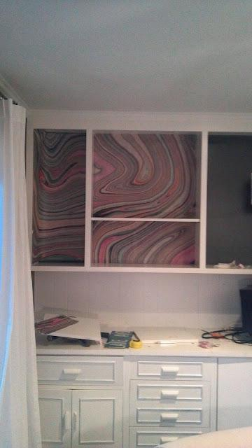 Marbled Bookcase Complete...