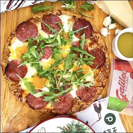 Breakfast Pizza with Galileo Salame