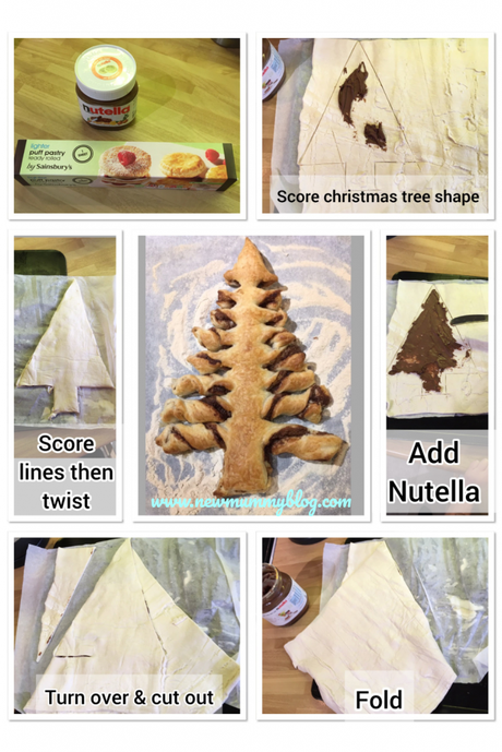 Nutella Pastry Christmas Tree Pastry