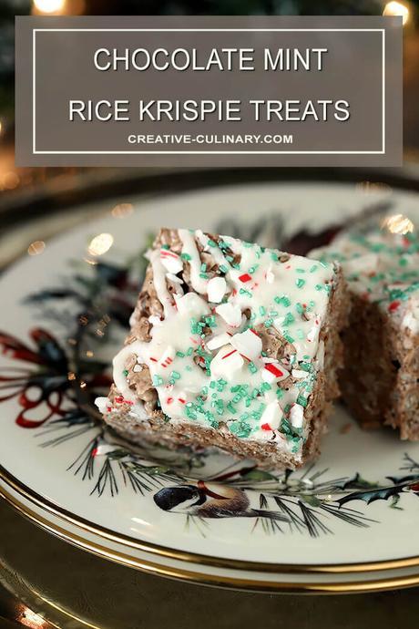 Chocolate Mint Rice Krispie Treats