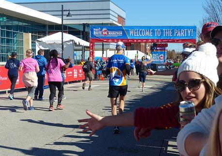 Mike Sohaskey finishing the Route 66 Marathon