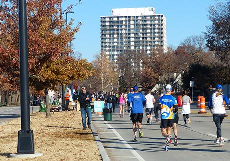 Mike Sohaskey on Riverside Drive in mile 11 of the Route 66 Marathon