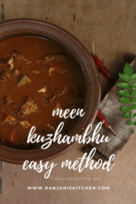 meen kuzhambu for beginners | bachelor meen kulambu