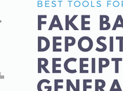 Fake Bank Deposit Receipt Generators 2021
