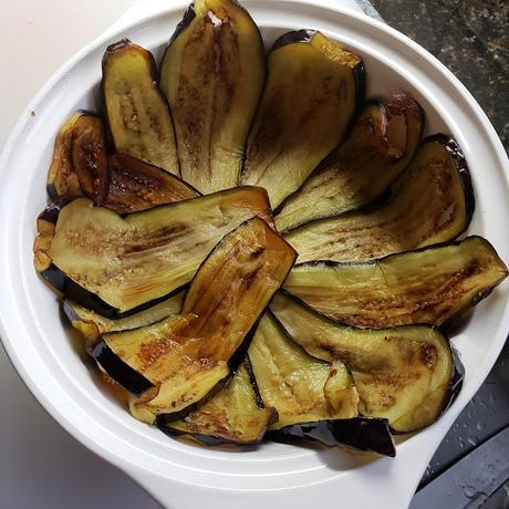 Eggplant timballo