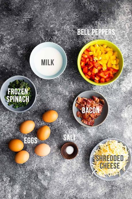 ingredients required to make breakfast casserole